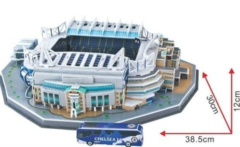 Estadio Rompecabezas 3D Stamford Bridge (Entrega solo en Colombia) - buy online