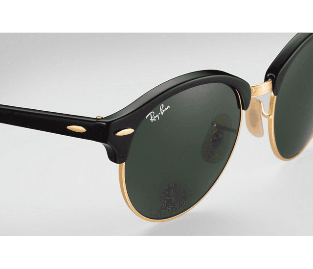 ÓCULOS RAY-BAN CLUBROUND PRETO - RB4246 na internet