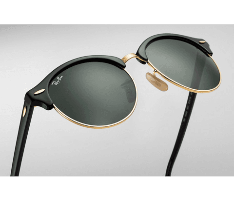 ÓCULOS RAY-BAN CLUBROUND PRETO - RB4246