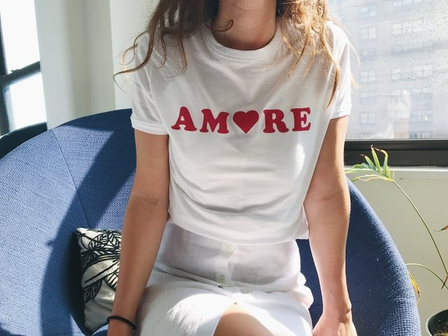 Remera Amore White en internet