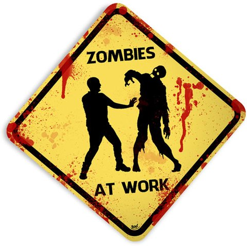 Placa Zombies At Work