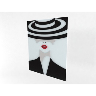 Quadro Decor Black and White Hat