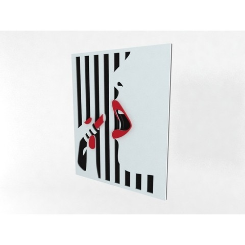 Quadro Decor Red Lips