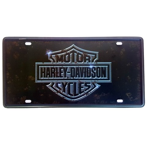 Placa de Metal Decorativa Harley Davidson