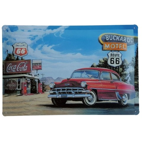Placa Metal Decorativa Buckaroo Motel