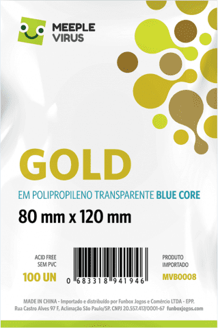 Sleeve Blue Core Gold 80 x 120 mm (100 unidades) na internet