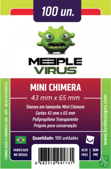 Sleeve Meeple Virus Mini Chimera 43 x 65 mm (100 unidades) na internet