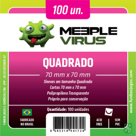 Sleeve Meeple Virus Quadrado 70 x 70 mm (100 unidades) na internet