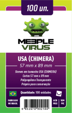 Sleeve Meeple Virus USA Chimera 57 x 89 mm - 100 unidades