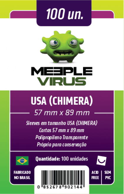 Sleeve Meeple Virus USA (Chimera) 57 x 89 mm (100 unidades)