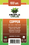 Sleeve Meeple Virus Copper 65 x 100 mm - 100 unidades - comprar online