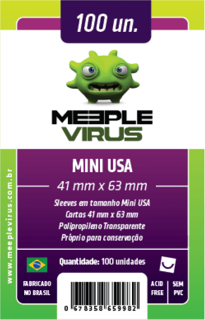 Sleeve Meeple Virus Mini USA 41 x 63 mm (100 unidades)