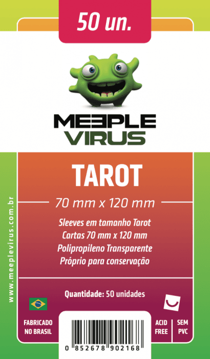Sleeve Meeple Virus Tarot 70 x 120 mm (50 unidades)