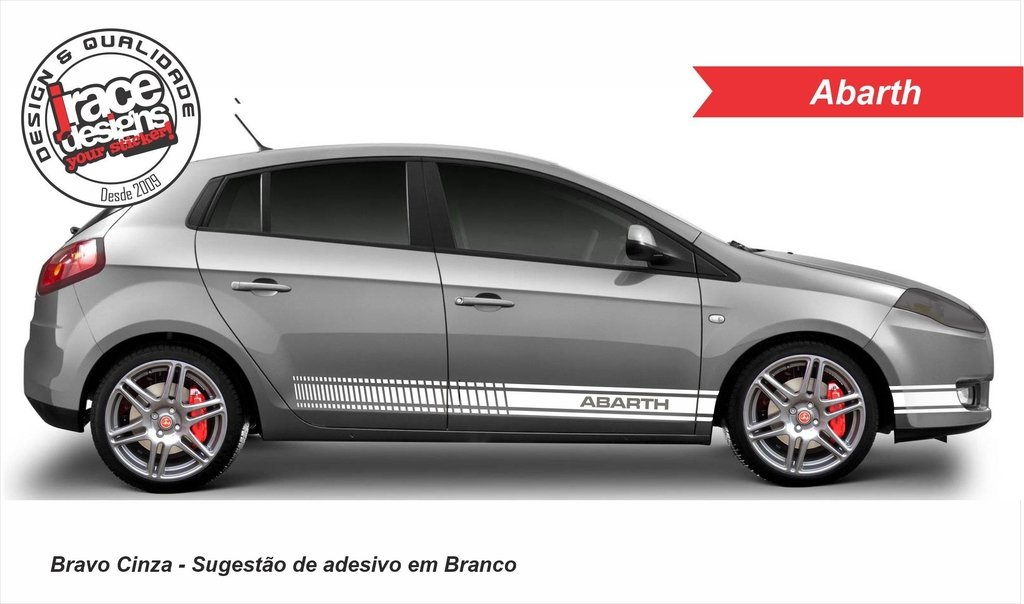 Adesivo Fiat Bravo Abarth Faixa Lateral Jrace