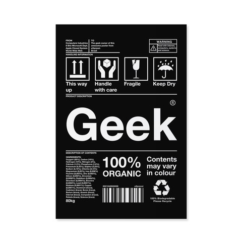 Poster / Quadro - Geek (Box Collection) na internet