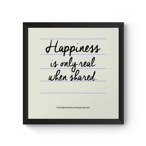Poster / Quadro - Happiness is Only Real When Shared
