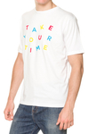 REMERA - TAKE YOUR TIME - BLANCO