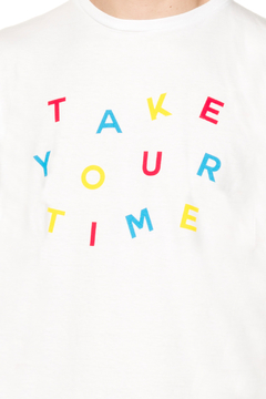 REMERA - TAKE YOUR TIME - BLANCO en internet