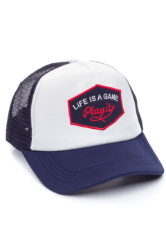 GORRA TRUCKER - LIFE IS A GAME AZUL - AZUL