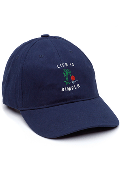 GORRA DAD HAT - LIFE IS SIMPLE - AZUL