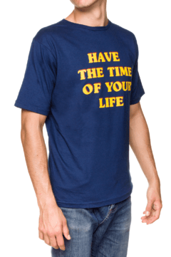 REMERA - TIME OF YOUR LIFE - AZUL - comprar online
