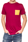 Remera Bolsillo Borna Bordo