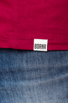 Remera Estampada Borna Bordo