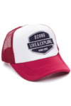 GORRA TRUCKER -  LIVE & EXPLORE AZUL - BORDO