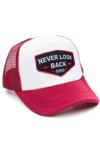 GORRA TRUCKER -  NEVER LOOK BACK NEGRO - BORDO