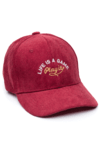 GORRA DAD HAT CORDEROY - LIFE IS A GAME - BORDO