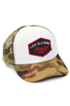 GORRA TRUCKER - LIFE IS A GAME NEGRO - CAMUFLADA
