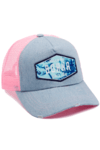 GORRA CALIFORNIA - DREAM - PALMERA - ROSA + CELESTE