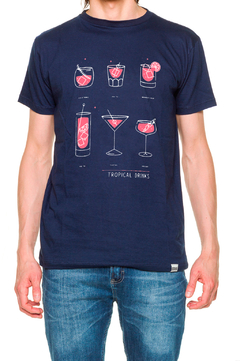 REMERA - TROPICAL DRINKS - AZUL