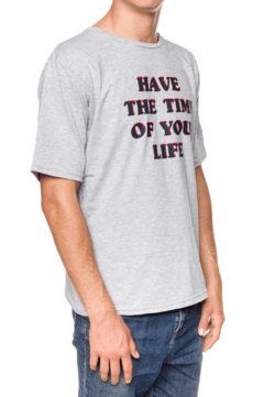 REMERA - TIME OF YOUR LIFE - GRIS - comprar online