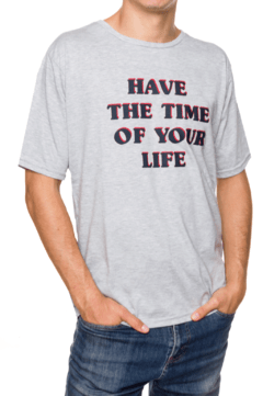 REMERA - TIME OF YOUR LIFE - GRIS