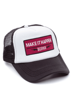 GORRA TRUCKER -  MAKE IT HAPPEN BORDO - NEGRA