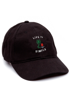 GORRA DAD HAT - LIFE IS SIMPLE - NEGRA