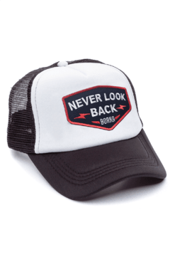 GORRA TRUCKER -  NEVER LOOK BACK NEGRO - NEGRA