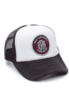 GORRA TRUCKER - WHAT GOES AROUND NEGRO - NEGRA