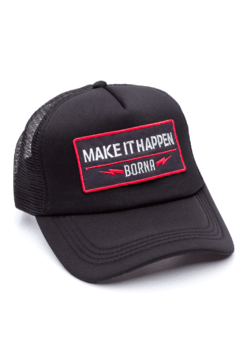 GORRA TRUCKER - MAKE IT HAPPEN NEGRO - NEGRA FULL