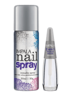 Kit  Nail Spray - Prata - comprar online