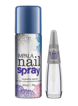 Kit  Nail Spray - Azul - comprar online