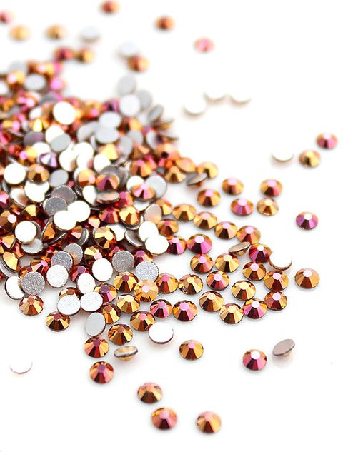 Strass Cristal  Ouro Rosa AB - 1,5mm - comprar online