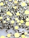 Strass Cristal AB  Prata   - Base ouro-  1,5mm