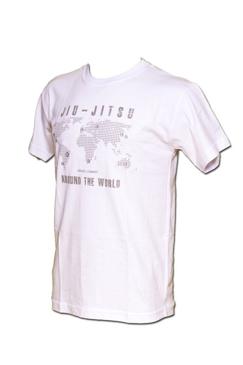 T-shirt Jiu-Jitsu Around the World Branca