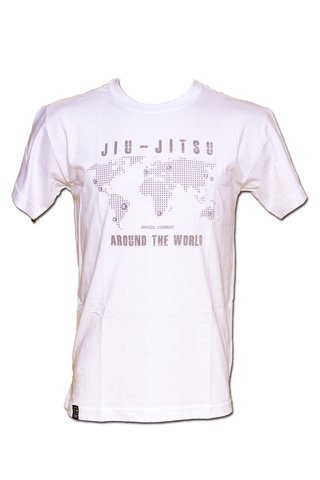 T-shirt Jiu-Jitsu Around the World Branca - comprar online