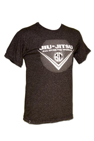 T-shirt Jiu-Jitsu All Over the World Chumbo