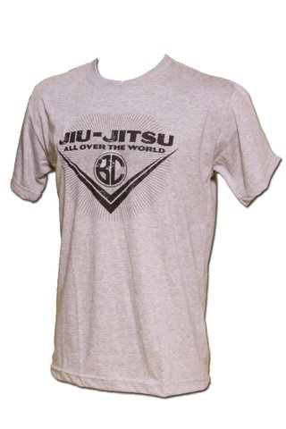 T-shirt Jiu-Jitsu All Over the World Cinza Mescla - comprar online
