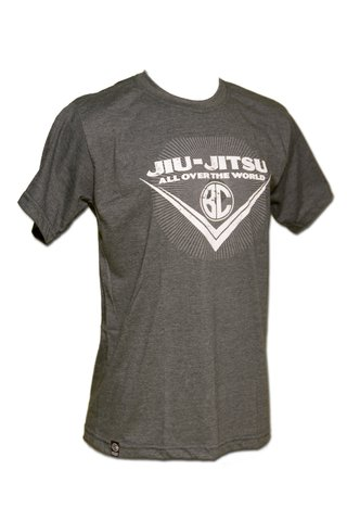 T-shirt Jiu-Jitsu All Over the World Preto Mescla - comprar online