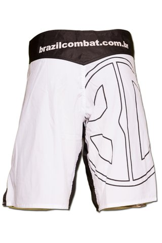 Grappling Short Basic IBJJF Branco - Brazil Combat